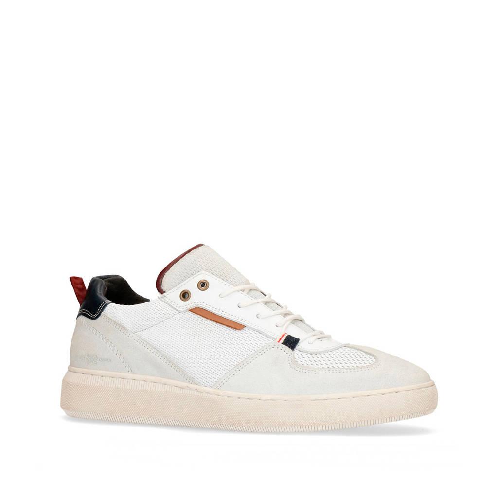 Manfield   suède sneakers wit, Wit