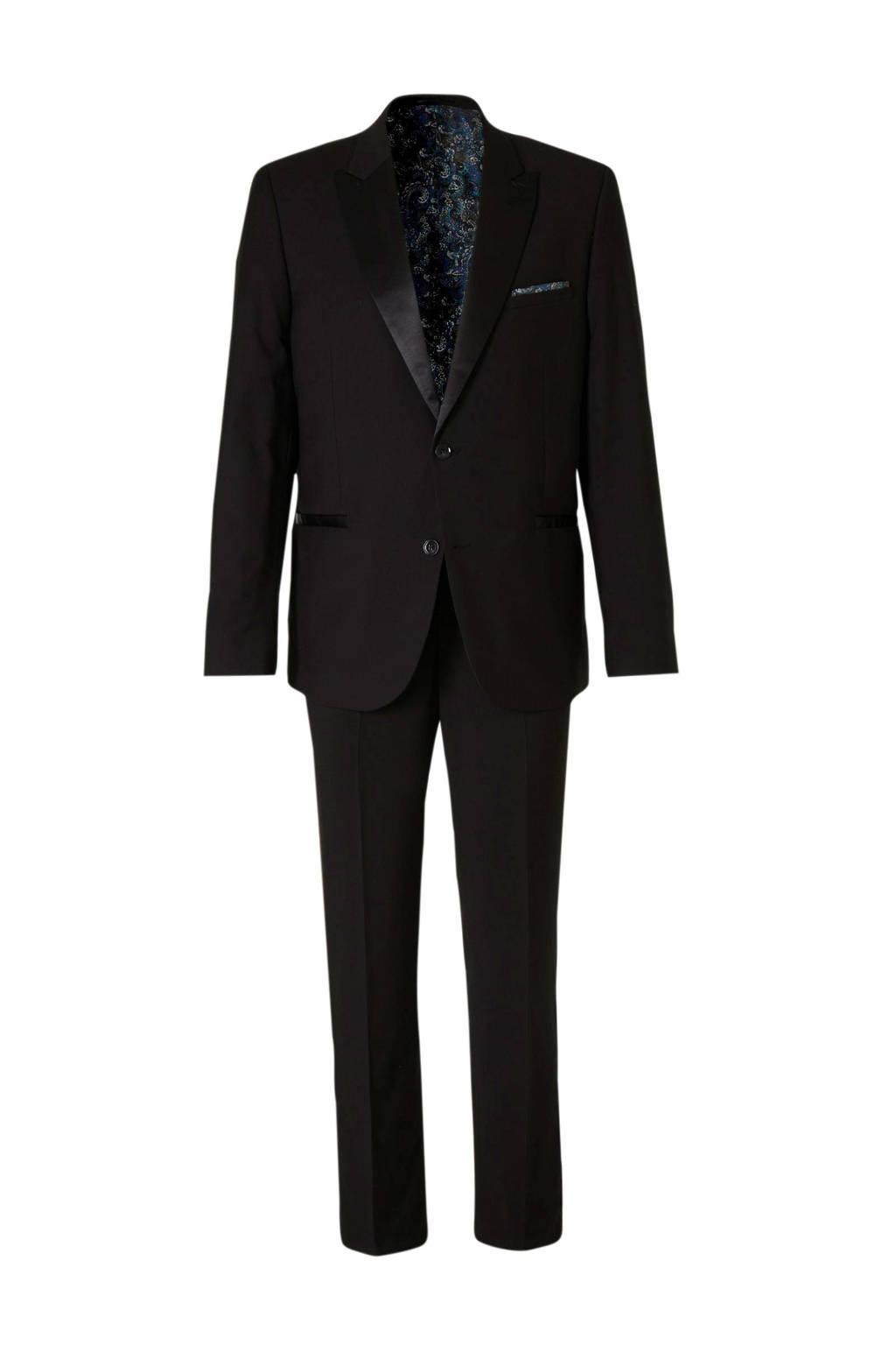 C&A Angelo Litrico slim fit kostuum zwart, Zwart