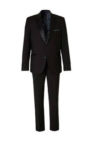 Angelo Litrico slim fit kostuum zwart