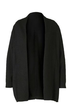 XL Yessica vest met glitters zwart