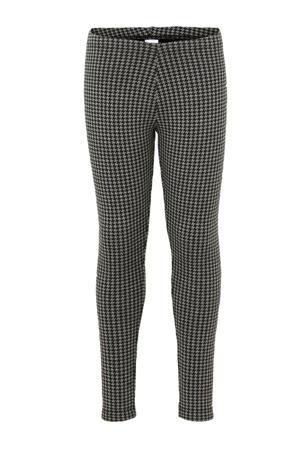 Here & There legging met pied-de-poule zwart/grijs