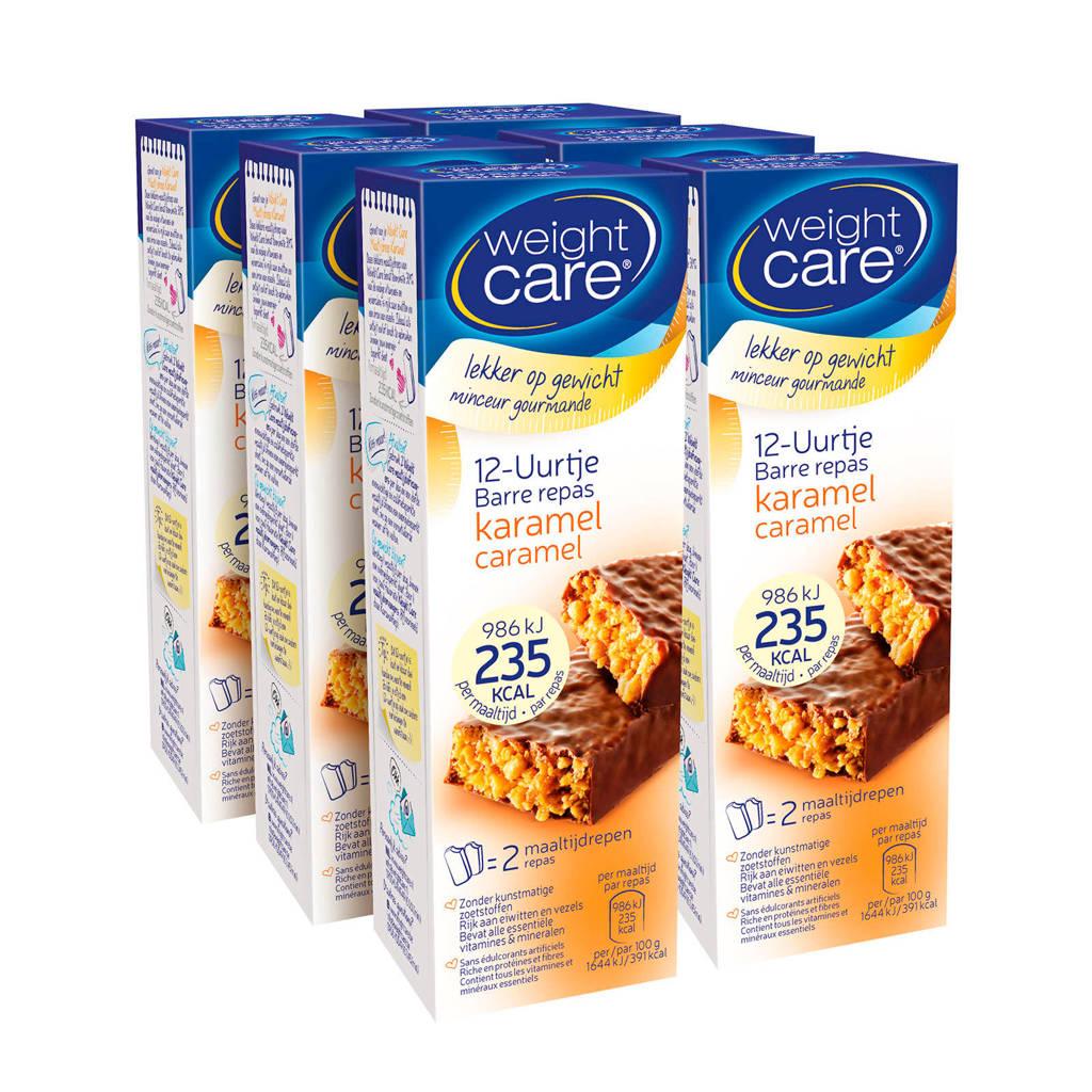 Weight Care Maaltijdreep 12-Uurtje Caramel -6x 2 stuks