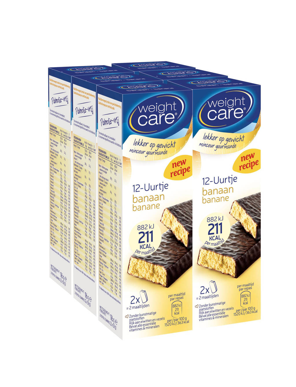 Weight Care Maaltijdreep 12-Uurtje Banaan - 6x2 stuks