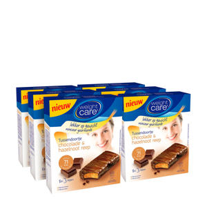 Snack reep chocolade-hazelnoot - 6x8 stuks