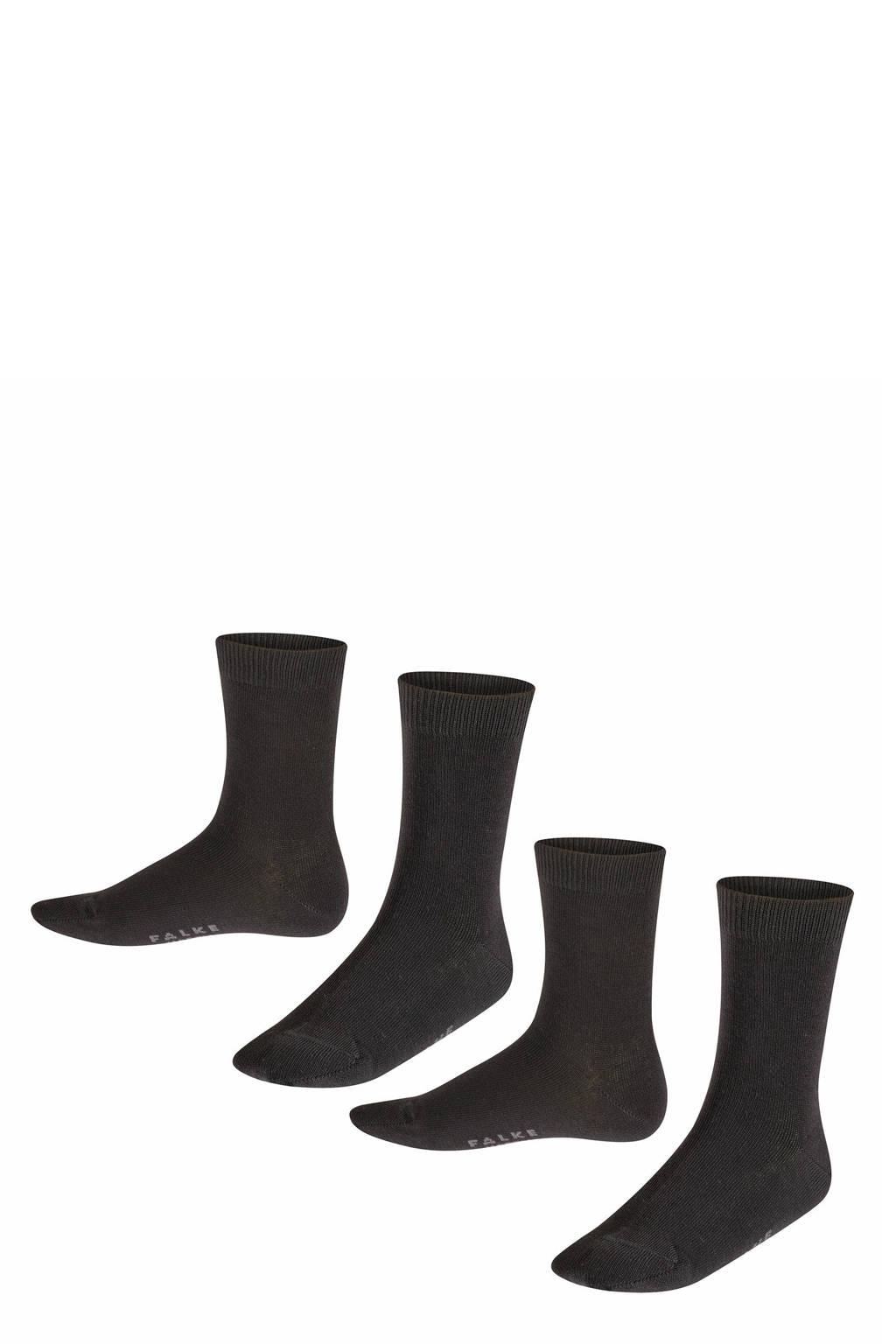 FALKE Happy sokken - set van 2 zwart, Zwart