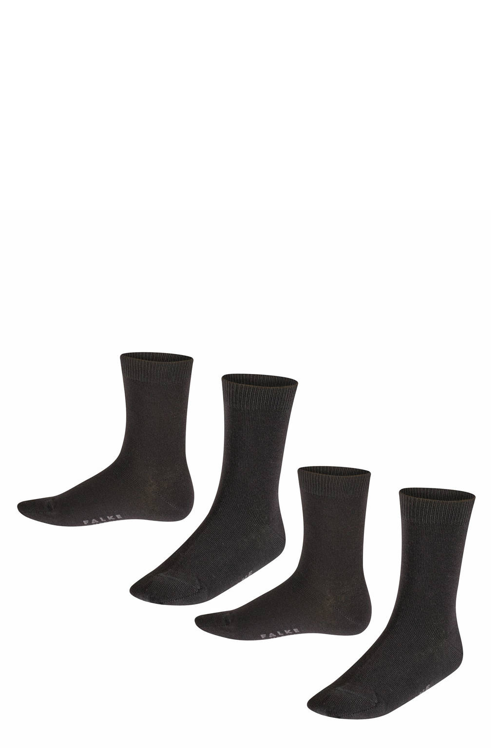 FALKE sokken set van twee paar zwart, Zwart