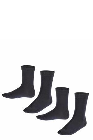 sokken set van twee paar zwart