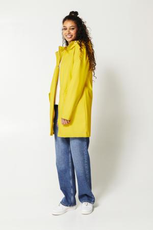 regenjas Janice met capuchon geel