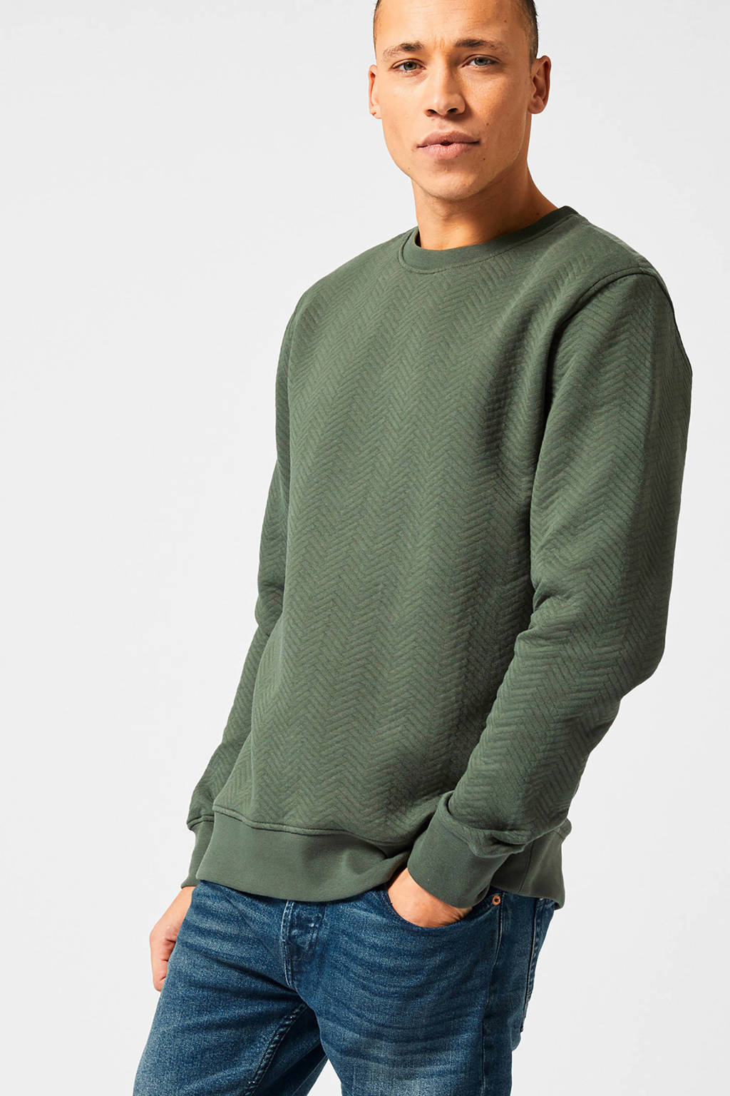 America Today textuur sweater army, Army