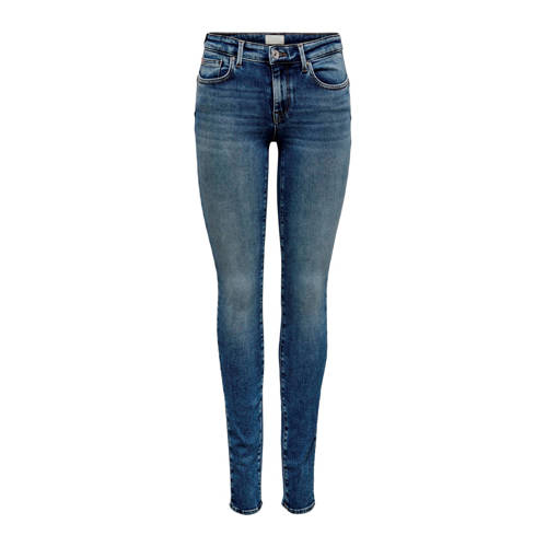 ONLY high waist skinny jeans blauw