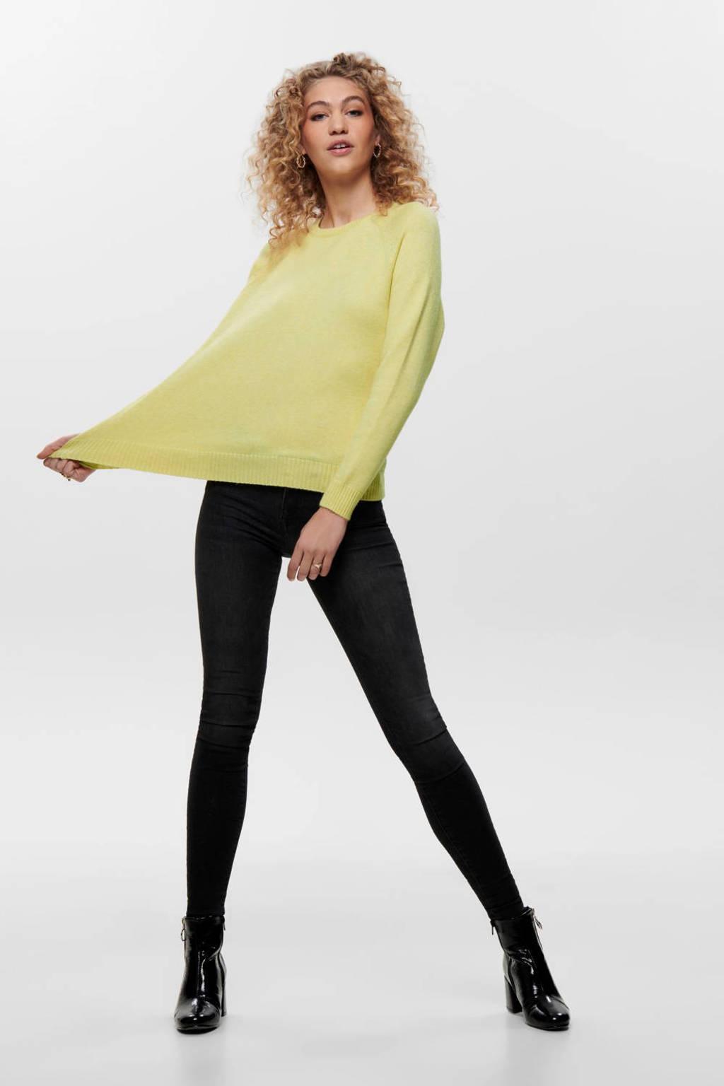 ONLY gemêleerde trui geel, Geel