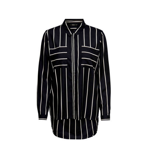 ONLY gestreepte blouse zwart/wit