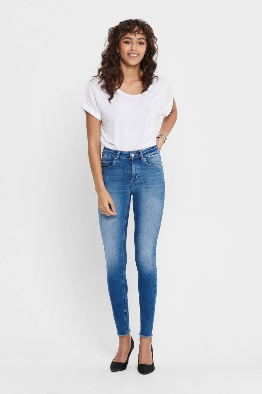 ONLY skinny jeans blauw, Blauw