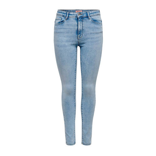 ONLY high waist skinny jeans blauw