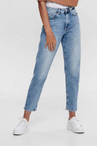 ONLY high waist mom jeans ONLVENEDA light blue denim, Blauw