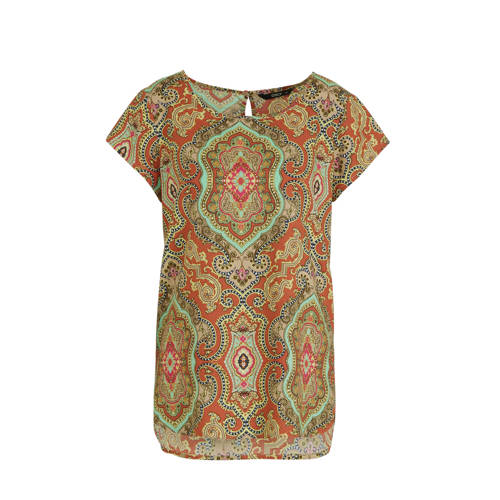 ONLY top met all over print oranje
