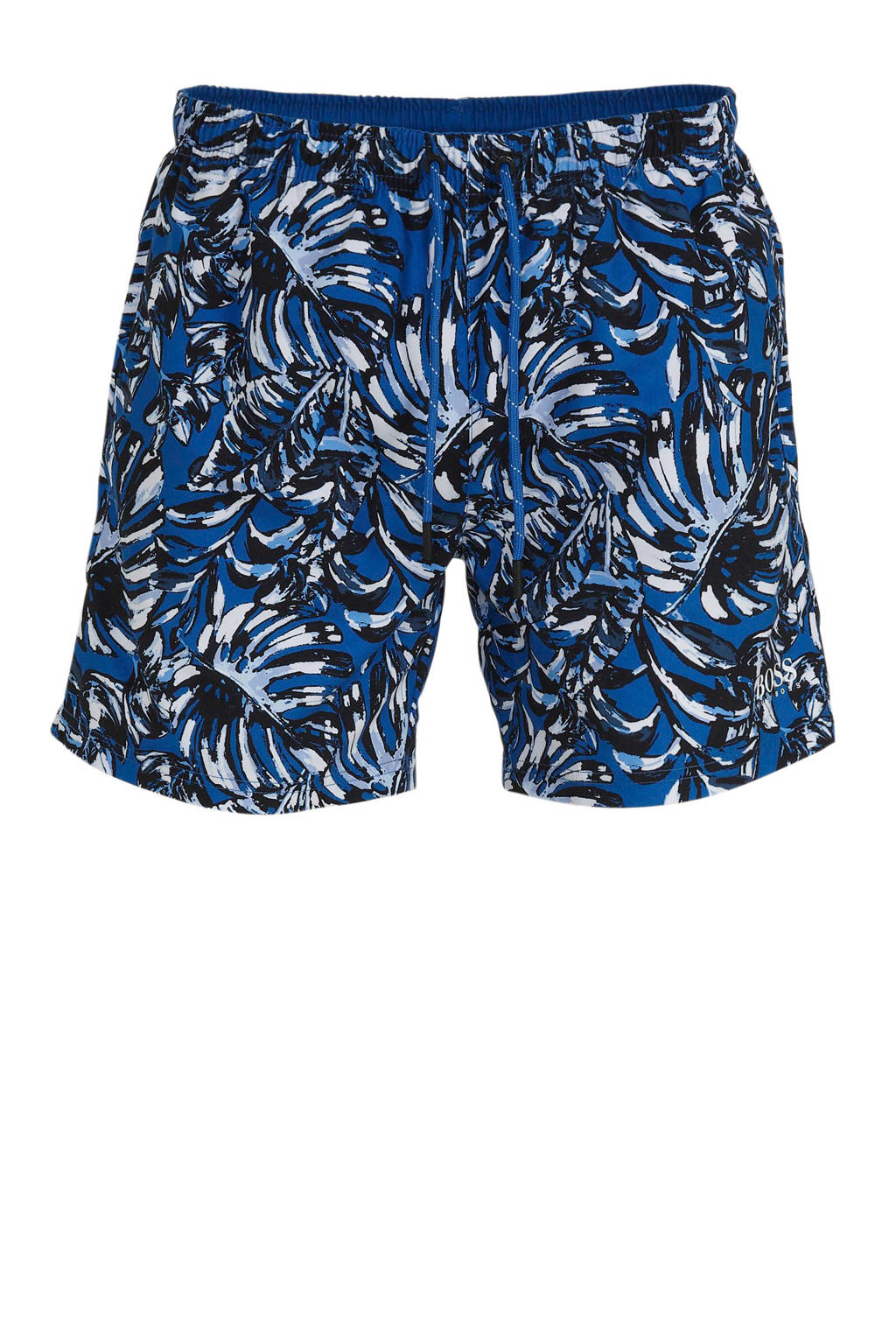 BOSS zwemshort met all over print blauw, Blauw