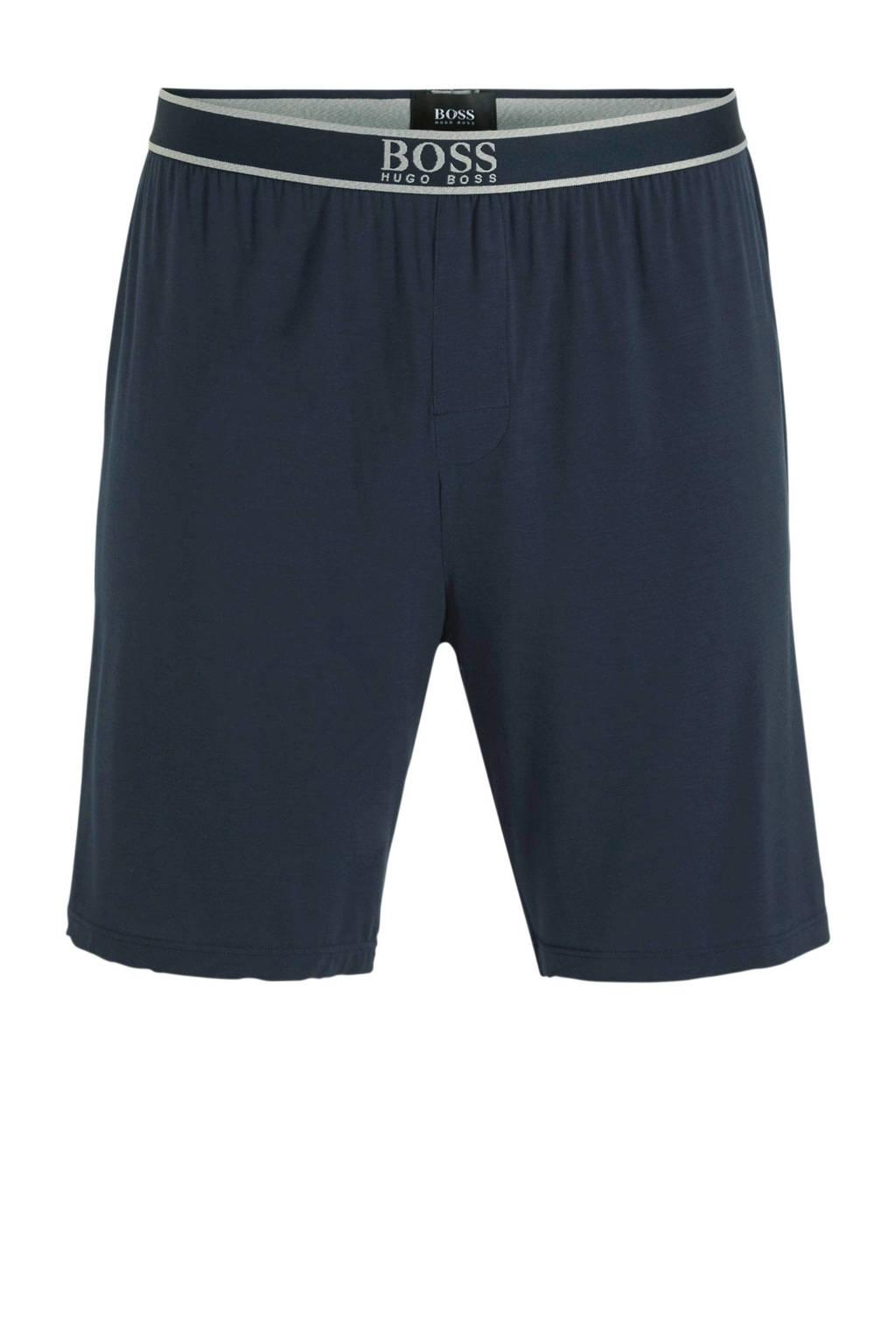 BOSS pyjamashort donkerblauw, Donkerblauw