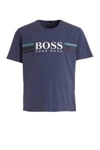 BOSS pyjamatop met logo blauw, Blauw