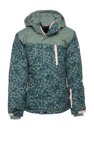 ski-jack dierenprint groen/mintgroen