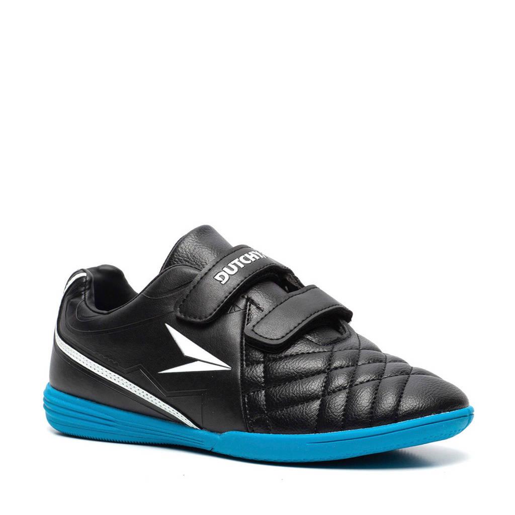 Scapino Dutchy   zaalvoetbalschoenen zwart/kobaltblauw, Zwart/kobaltblauw