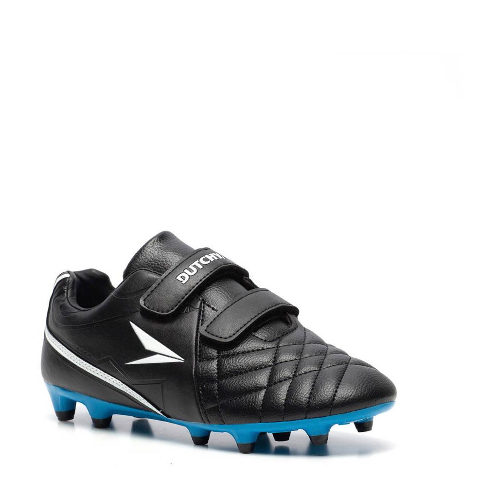Scapino Dutchy   FG voetbalschoenen zwart/kobaltblauw, Zwart/kobaltblauw