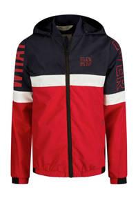 Retour Denim zomerjas Chuck met tekst donkerblauw/rood/wit, Donkerblauw/rood/wit