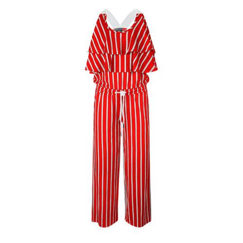 Retour Denim gestreepte jumpsuit rood/wit