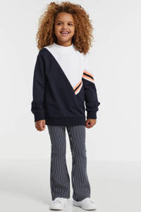 Retour Denim sweater Fleur donkerblauw/wit/oranje, Donkerblauw/wit/oranje