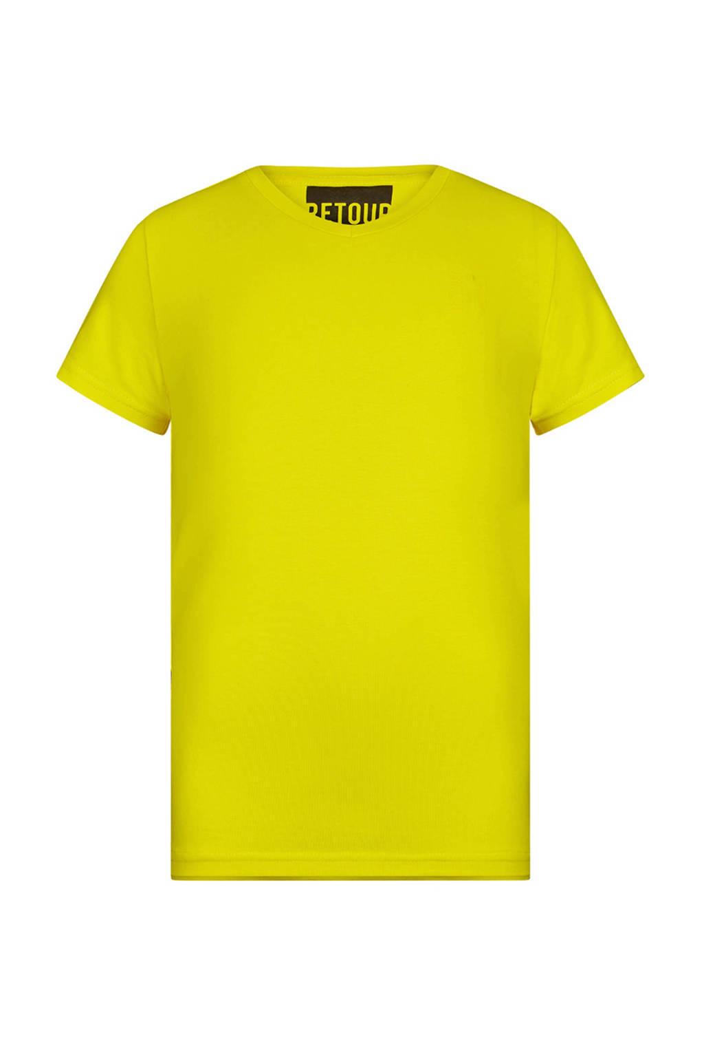 Retour Denim T-shirt Sean geel, Geel