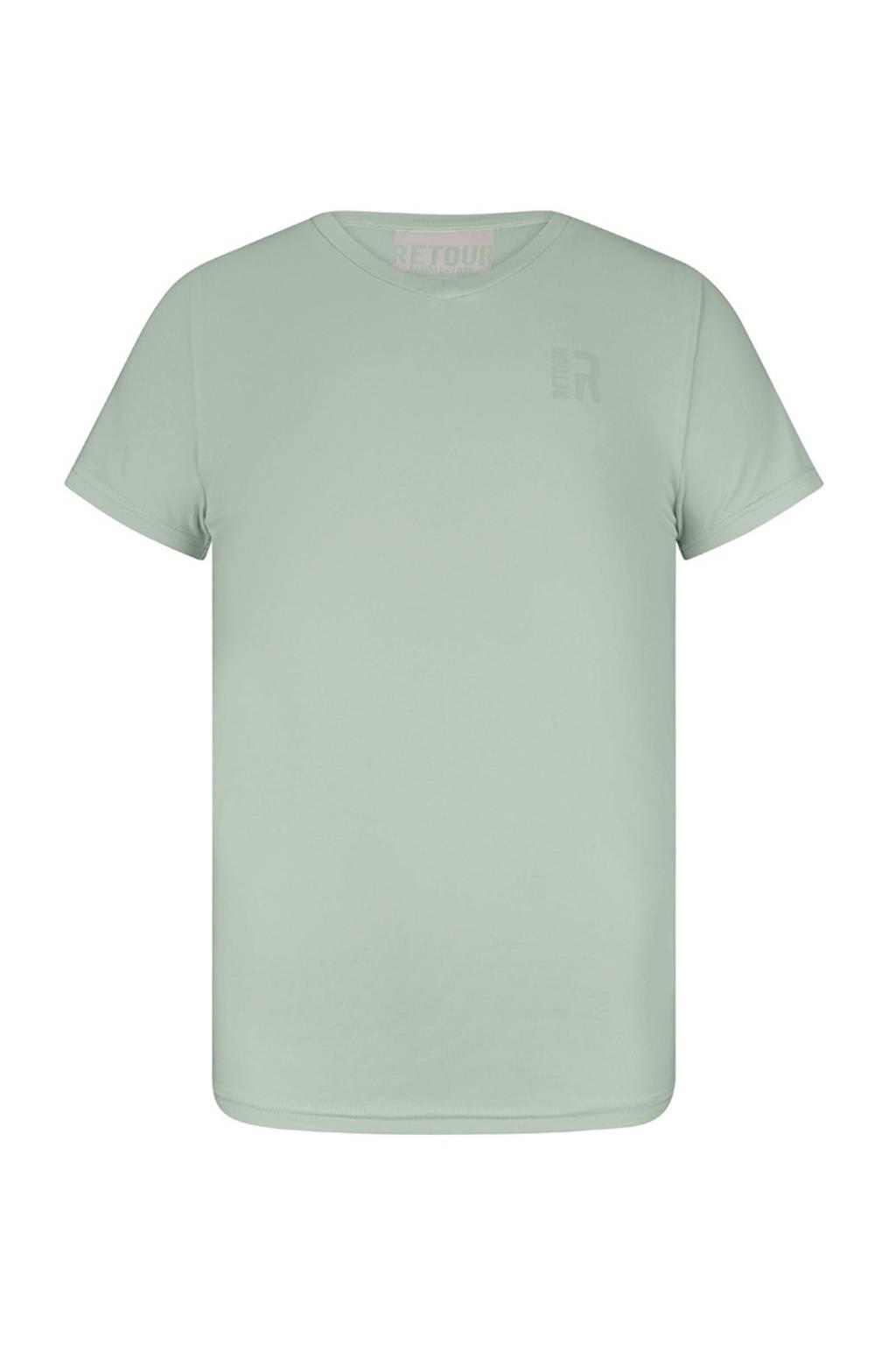 Retour Denim T-shirt Sean mintgroen, Mintgroen