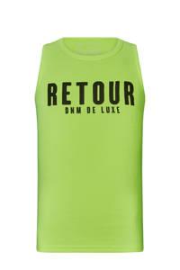 Retour Denim singlet Sheila met logo en textuur neon geel, Neon geel