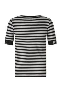Retour Denim gestreept T-shirt Jenny zwart/grijs, Zwart/grijs