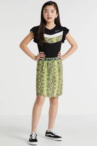 Retour Denim jurk Luna met dierenprint zwart/geel/wit, Zwart/geel/wit