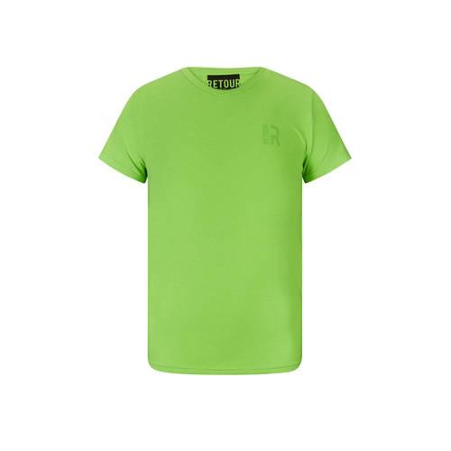 Retour Denim T-shirt Sean neon groen