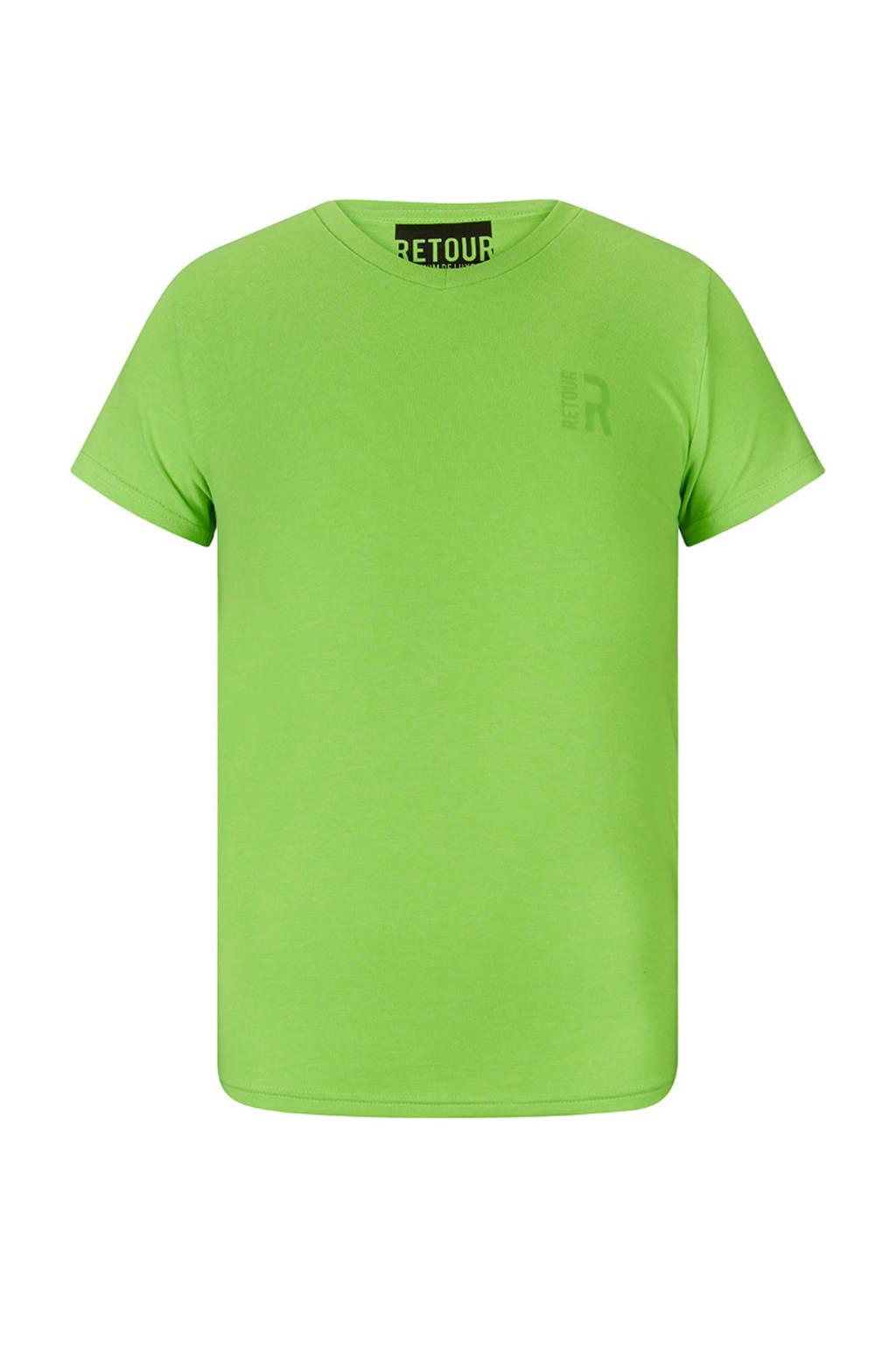 Retour Denim T-shirt Sean neon groen, Neon groen
