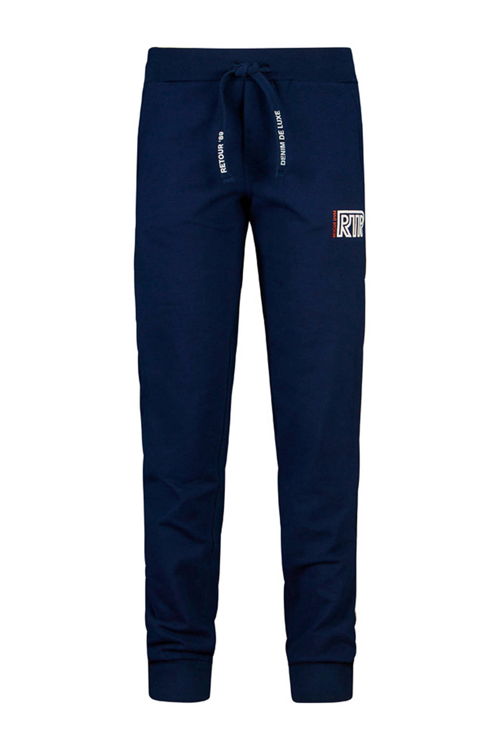 Retour Denim regular fit broek Nico met tekst donkerblauw/wit, Donkerblauw/wit