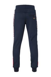 Retour Denim regular fit broek Elliot met zijstreep donkerblauw/rood/wit, Donkerblauw/rood/wit