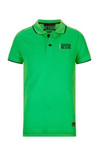 Retour Denim polo Lucas neon groen, Neon groen