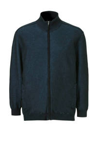 Tom Tailor Big & Tall gemêleerd vest donkerblauw, Donkerblauw