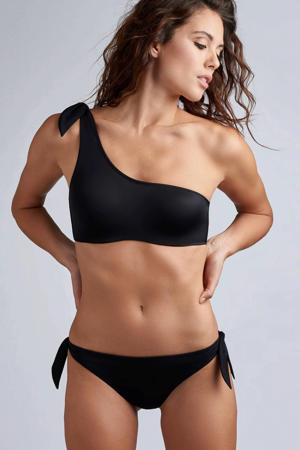 one shoulder bikinitop Black Sea zwart