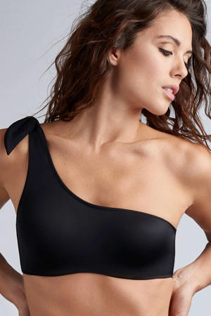 one shoulder bikinitop Black Sea zwart