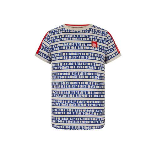 Retour Denim T-shirt Moris met contrastbies ecru/b