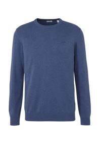 ESPRIT Men Casual gemêleerde sweater blauw, Blauw