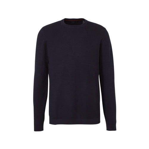 ESPRIT Men Casual gem??leerde sweater marine