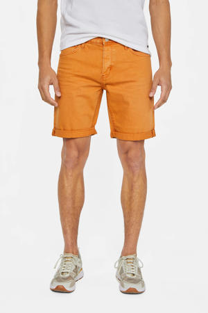 straight fit jeans short faded orange