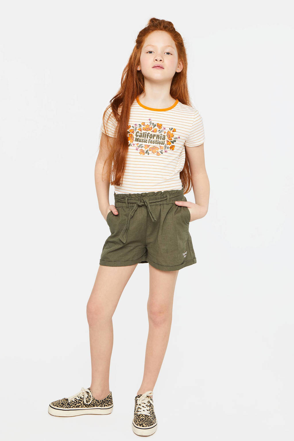 WE Fashion short groen, Groen