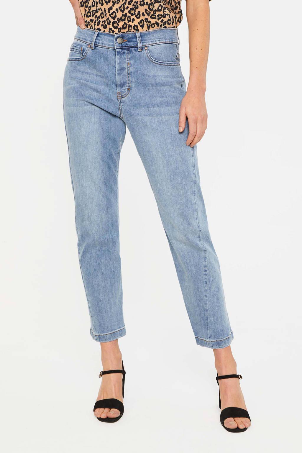 WE Fashion Blue Ridge straight fit jeans bleached denim, Bleached denim