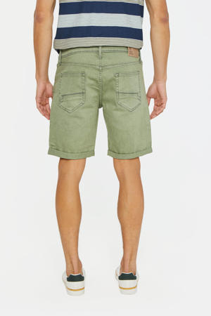 straight fit jeans short moss