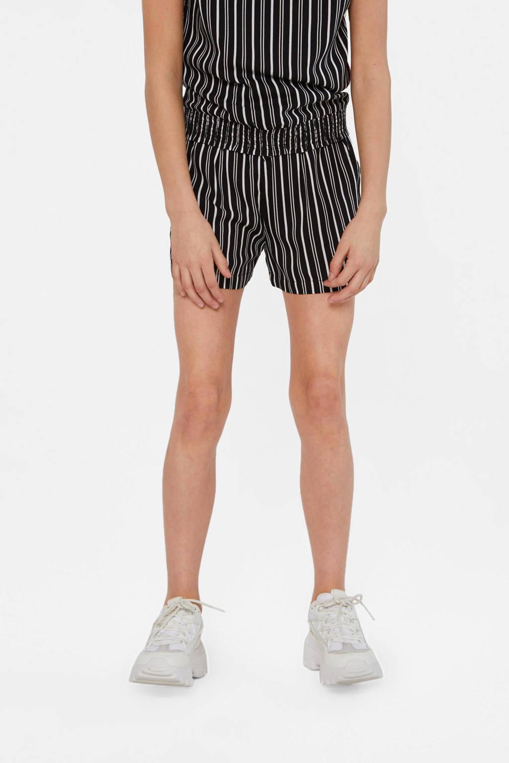 WE Fashion gestreepte short zwart/wit, Zwart/wit
